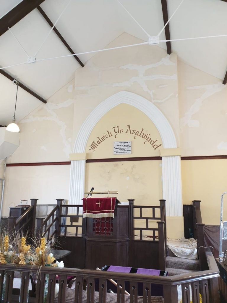 Calfaria Chapel Ystradgynlais paint job by Swansea Painter
