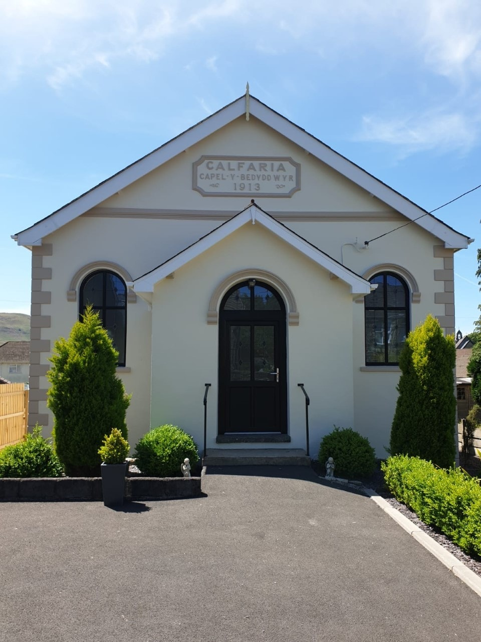 Front Exterior View of Calfaria Chapel painted by Premier Painters and Decorators Swansea