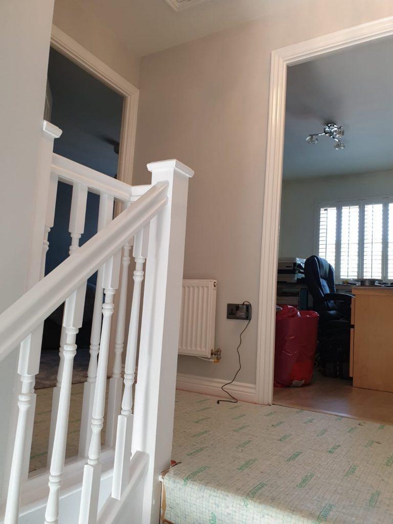 Painters Swansea Halls Stairs and landing interior painting in Llansamlet Swansea