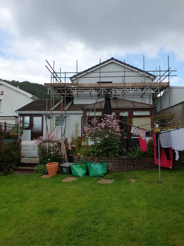 Rear View View of Exterior Painting by Painters Decorators Swansea of property in Cadoxton, Neath