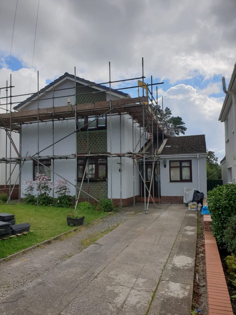 Right Front View View of Exterior Painting by Painters Decorators Swansea of property in Cadoxton, Neath